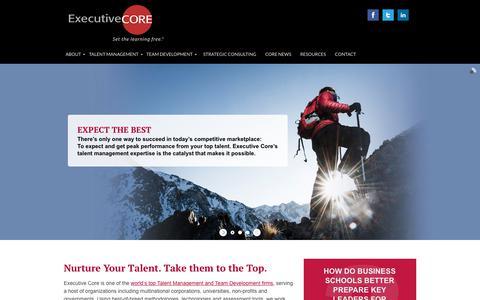 Screenshot of Home Page executive-core.com - Executive Talent Management and Team Development - captured Oct. 21, 2018