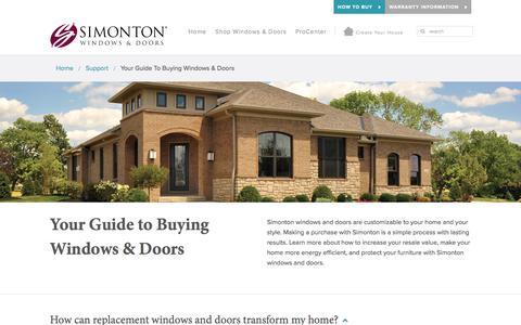Screenshot of FAQ Page simonton.com - Guide to Buying Replacement Windows   Simonton Windows & Doors - captured Nov. 6, 2016