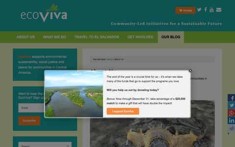 Screenshot of About Page ecoviva.org - About Us - EcoViva - captured Dec. 7, 2015