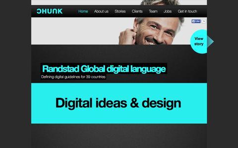 Screenshot of Home Page chunk.nl - Chunk Đ Digital Agency - captured Dec. 5, 2015