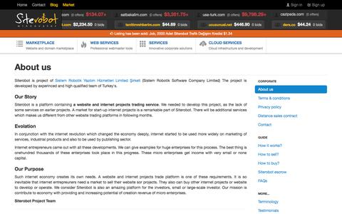 Screenshot of About Page Testimonials Page siterobot.com - About us   Siterobot marketplace for buying selling websites - captured Oct. 26, 2014