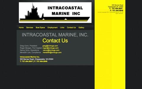 Screenshot of Contact Page icmtugs.com - Contact Us - captured Oct. 6, 2014