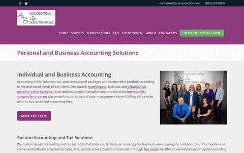 Screenshot of About Page acctaxsolutions.net - Personal and Business Accounting Solutions | ATS - captured Oct. 2, 2018