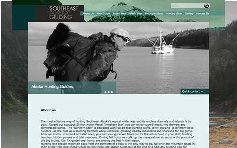 Screenshot of About Page seaguiding.com - About - Southeast Alaska Guiding - captured Feb. 26, 2016