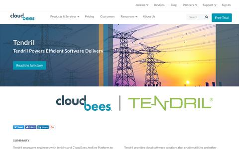 Screenshot of Case Studies Page cloudbees.com - Tendril Powers Efficient Software Delivery | CloudBees - captured Aug. 8, 2018