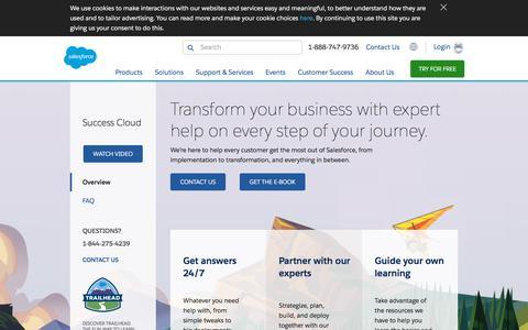 Screenshot of Services Page salesforce.com - Learn More About Salesforce Consulting Services - Salesforce.com - captured Sept. 19, 2018