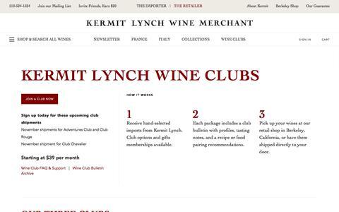 Kermit Lynch Wine Merchant - Wine Clubs