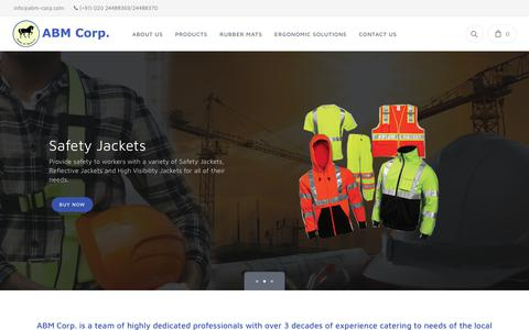 Screenshot of Home Page abm-corp.com - ABM Corp. - Personal Protective Equipment Supplier - captured Sept. 24, 2018