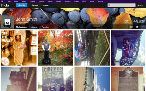 Screenshot of Flickr Page flickr.com - Flickr: My Seg Adventures' Photostream - captured Nov. 5, 2014