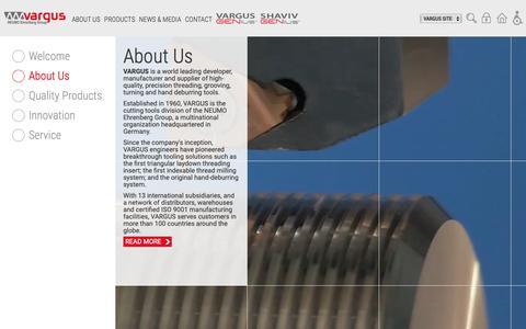 Screenshot of Home Page vargus.com - Home | Vargus - captured Nov. 18, 2018