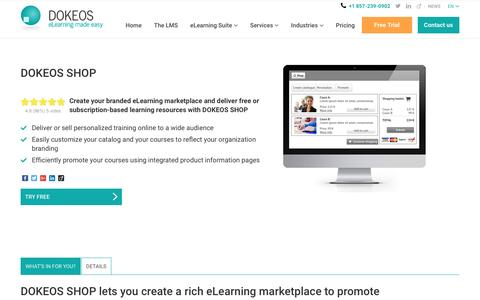DOKEOS SHOP: share your training catalog and sell courses