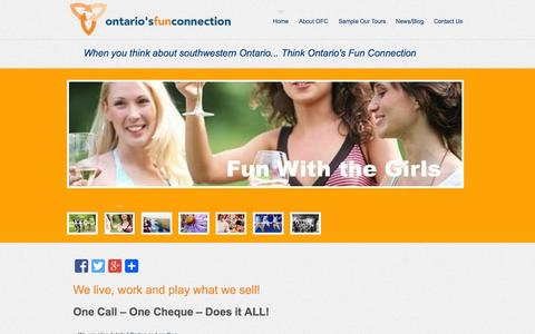 Screenshot of Home Page ontariosfunconnection.com - Ontario Fun Connection - captured Oct. 7, 2014
