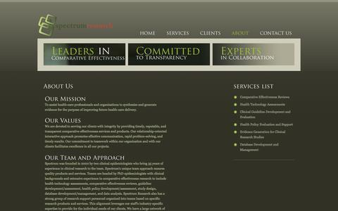 Screenshot of About Page specri.com - Profile - captured Feb. 17, 2016