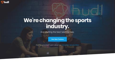 Screenshot of Jobs Page hudl.com - Hudl | Join Our Team - captured April 11, 2018