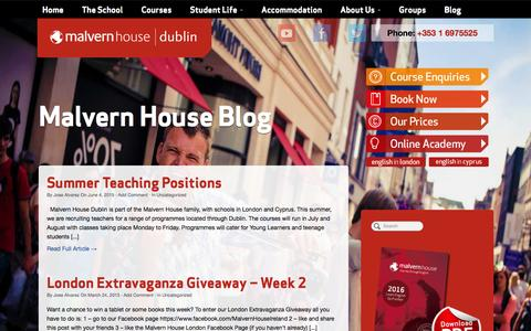 Screenshot of Blog malvernhouse.ie - Blog - Malvern House Ireland - captured Feb. 4, 2016