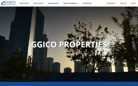 Screenshot of About Page ggicoproperties.com - About Us - GGICO Properties - captured Dec. 6, 2015