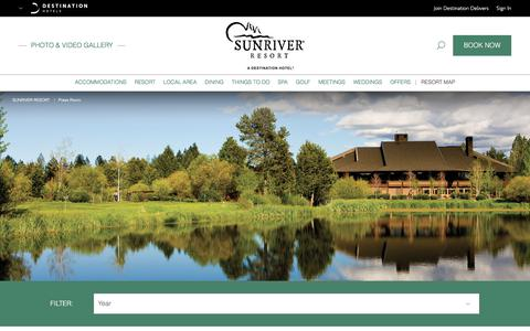 Screenshot of Press Page destinationhotels.com - Hotels in Bend Oregon | Sunriver Resort - Press Room - captured June 28, 2017