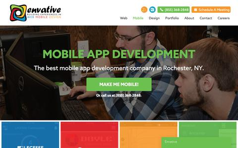 Screenshot of Developers Page envative.com - Envative - The Best Mobile App Development Company With the Best Mobile App Developers New York has to offer - captured May 19, 2017