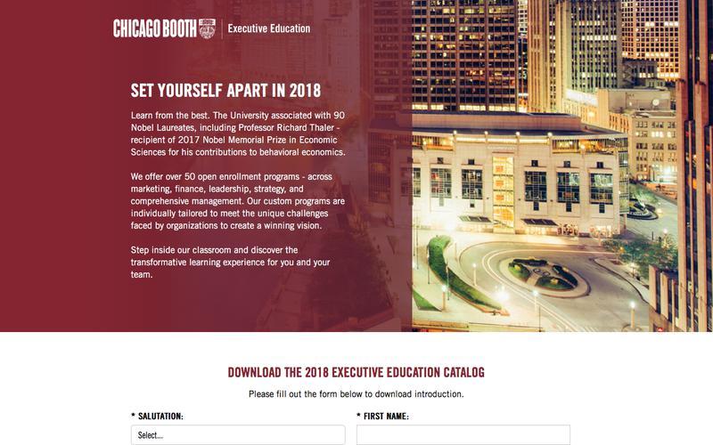 Executive Education at Chicago Booth | 2018 Executive Education Program Catalog