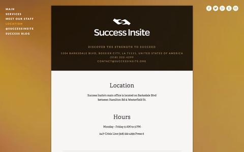 Screenshot of Locations Page successinsite.org - Location — Success Insite - captured Feb. 16, 2016
