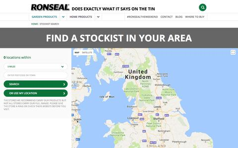 Screenshot of Maps & Directions Page ronseal.co.uk - Find a Stockist | Ronseal - captured Jan. 20, 2018