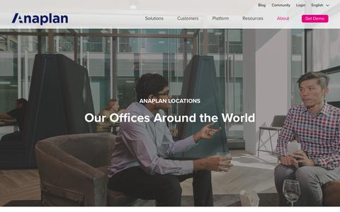 Anaplan Worldwide Offices and Contact Details