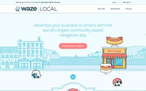Screenshot of About Page Privacy Page waze.com - Waze Advertisers Dashboard - captured Jan. 12, 2017
