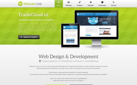 Screenshot of Contact Page webstudio-carlo.nl - Contact — Webstudio Carlo (webdesign & webdevelopment) - captured Oct. 25, 2014