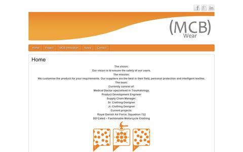 Screenshot of Home Page mcbwear.com - MCB WEAR - captured Oct. 3, 2014