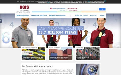 Screenshot of Home Page rgis.com - RGIS | Inventory Service Leader | Retail Inventory Solutions - captured Oct. 7, 2015