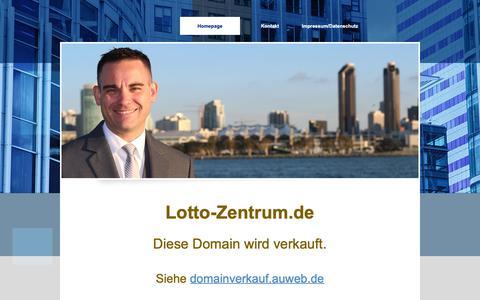 Screenshot of Home Page lotto-zentrum.de - LOTTO Domainverkauf - Domain www.lotto-zentrum.de - LOTTO Domain - captured Oct. 28, 2018
