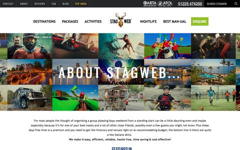 Screenshot of About Page stagweb.co.uk - About StagWeb - The Leading Stag Do Company | StagWeb - captured Oct. 24, 2017