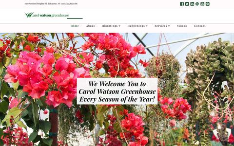 Screenshot of Home Page carolwatsongreenhouse.com - Carol Watson Greenhouse | Just another WordPress site - captured Sept. 12, 2015