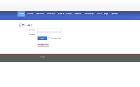 Screenshot of Login Page osageambulances.com - User Log In - captured Sept. 30, 2014