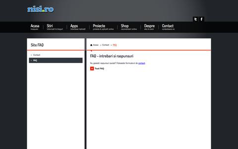 Screenshot of FAQ Page nisi.ro - nisi.ro - Contact - captured Nov. 2, 2014