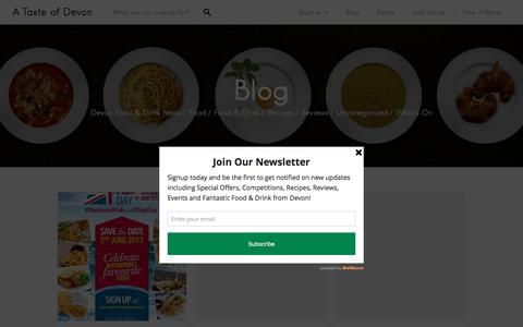 Screenshot of Blog atasteofdevon.co.uk - Blog | A Taste of Devon - captured Nov. 11, 2016