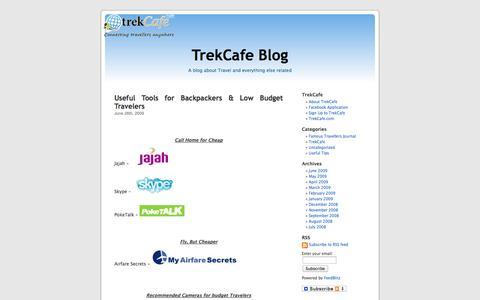 Screenshot of Blog trekcafe.com - TrekCafe Blog - captured Sept. 17, 2014