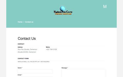 Screenshot of Contact Page ngiambus.com - Contact us - Ngiambus Corp Professional Web Design and SSII, Mobile, E-Commerce - Douala, Cameroon - captured Oct. 7, 2014