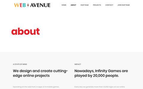 Screenshot of About Page webavenue.pt - about – WebAvenue - captured Nov. 20, 2018