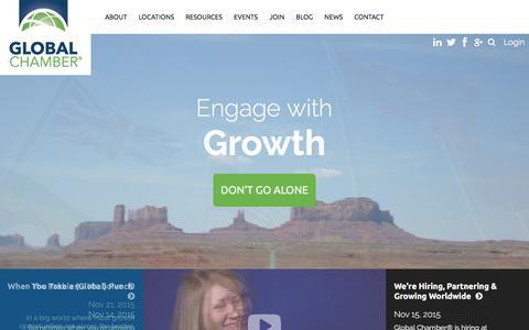 Screenshot of Home Page globalchamber.org - Global Chamber - Global Chamber - captured Dec. 10, 2015