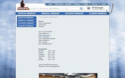 Screenshot of Contact Page roven.nl - Bedrijfs informatie - captured Oct. 7, 2014