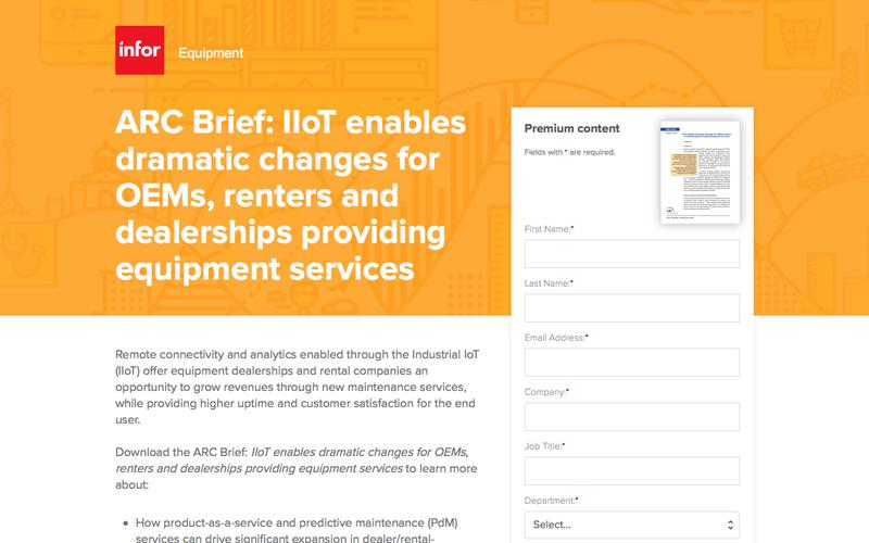 ARC Brief: IIoT enables dramatic changes for OEMs, renters and dealerships providing equipment services