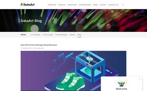 Screenshot of Blog dataart.com - DataArt - captured Nov. 9, 2019