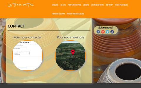 Screenshot of Contact Page laterreenfeu.fr - Contact - La Terre en Feu - captured Oct. 4, 2014