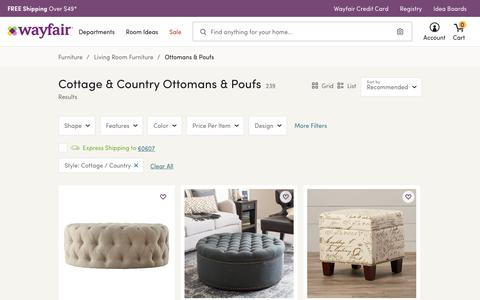 Cottage & Country Ottomans & Poufs You'll Love | Wayfair
