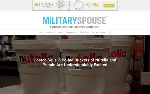Screenshot of Home Page militaryspouse.com - Military Spouse | Simplify Your Crazy, Wonderful Military Life - captured Jan. 10, 2019