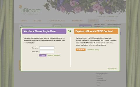 Screenshot of Login Page ubloom.com - Login to uBloom - uBloom Administrator | Everything Flowers at uBloom Administrator - captured Sept. 19, 2014