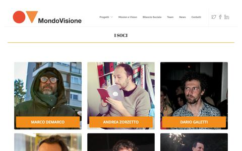Screenshot of Team Page mondovisione.org - Team - MONDOVISIONE - captured Nov. 30, 2018