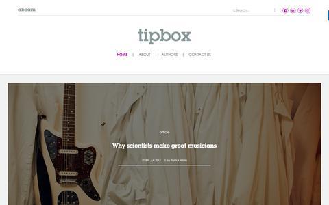 Screenshot of Blog abcam.com - Tipbox - captured April 2, 2018