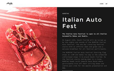 Screenshot of Signup Page nurotag.com - Italian Auto Festival – NUROTAG - captured July 9, 2016